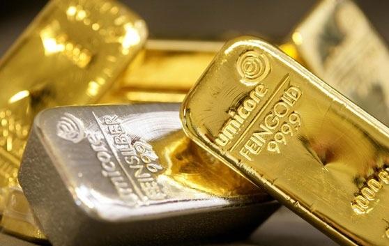 Слиток серебра и золота