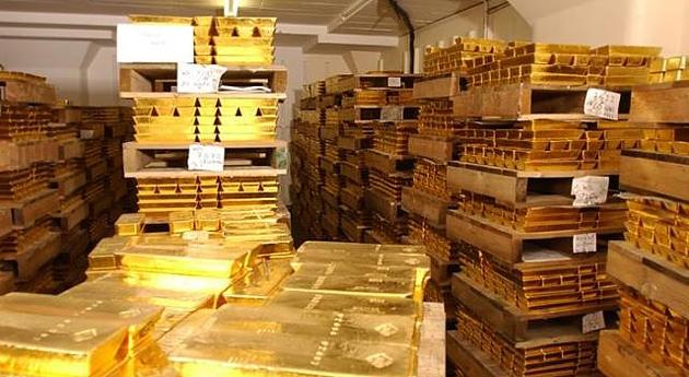 запас золота в мире