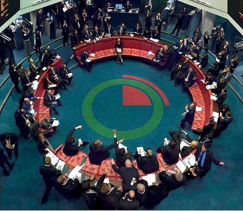 Торговый зал лондонской биржи