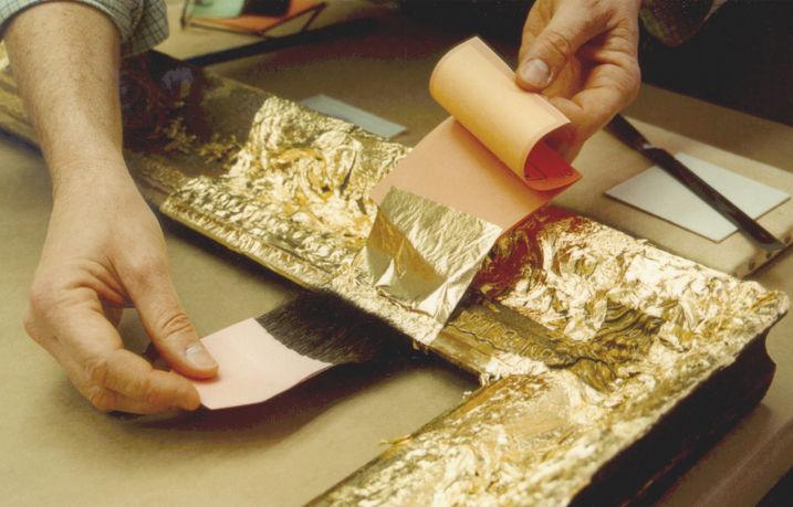 декор рамки сусальным золотом