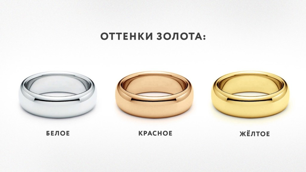 Цвета золотых изделий