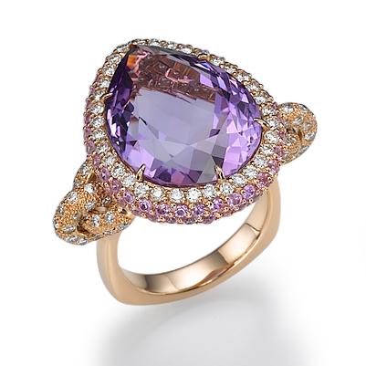 Кольцо с камнями