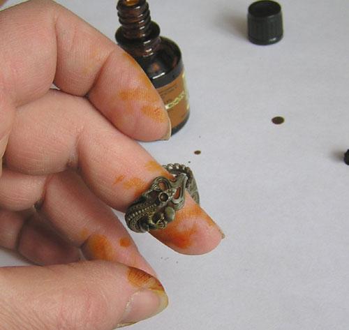 Использование йода для проверки кольца на подлинность
