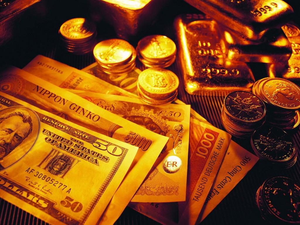 Монеты, слитки и купюры