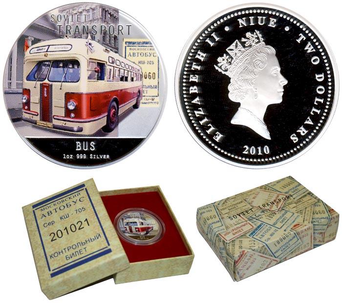 Монета автобус