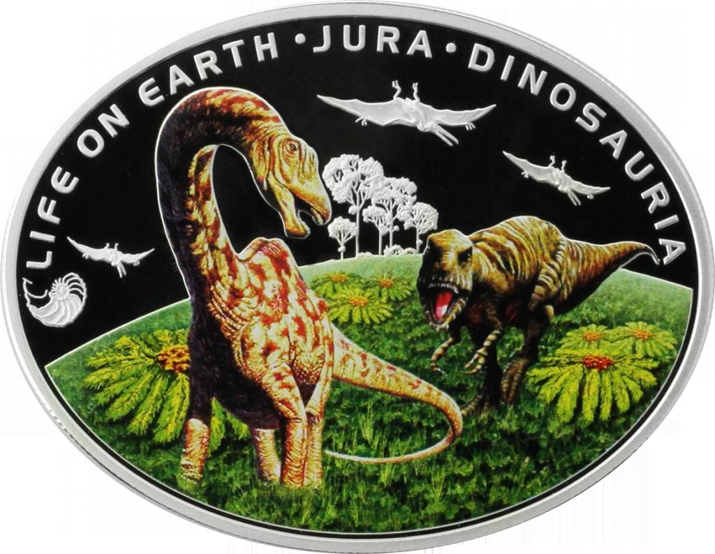 Монета динозавры