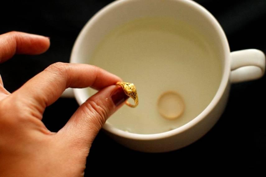 Проверка золота уксусом