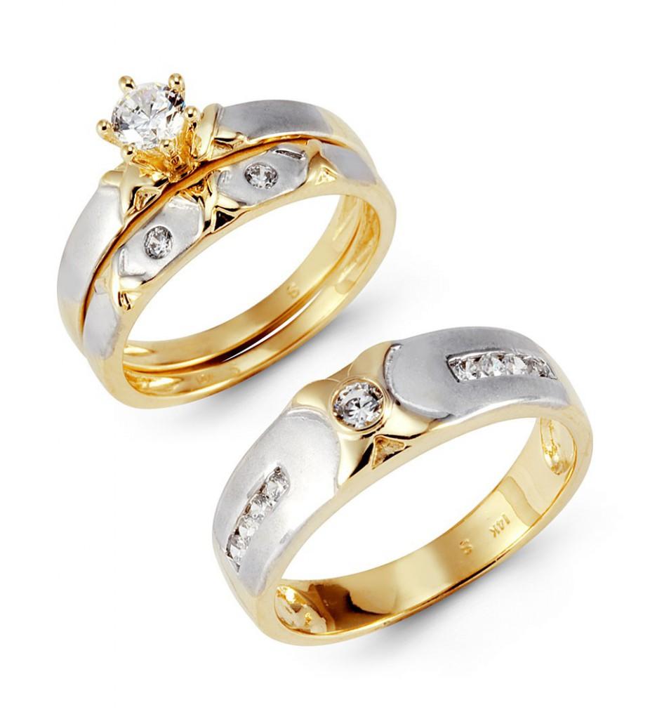 Бело-желтого кольцо