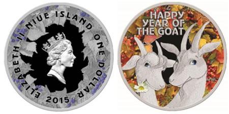 Монета коза и козел