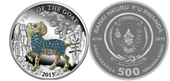 Монета объемная коза