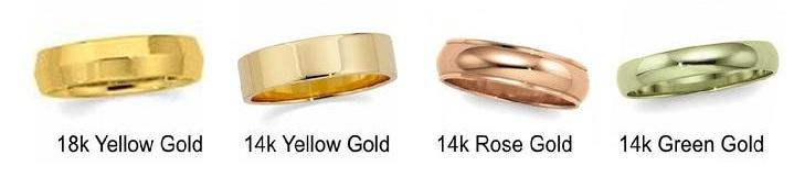Цвета золотых колец