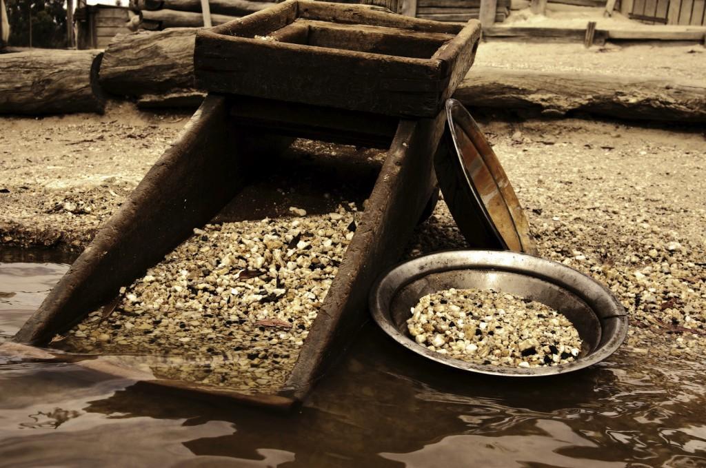 Лоток для добычи золота