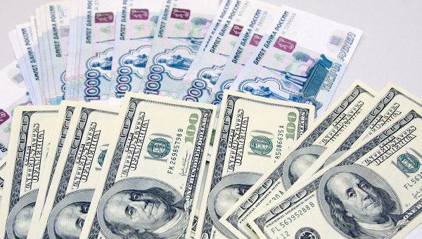 Российский рубль и доллар