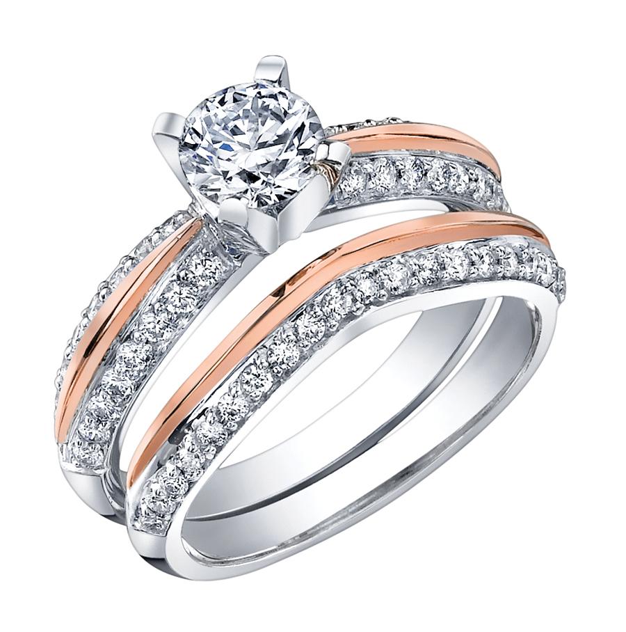 Бело-розовое кольцо