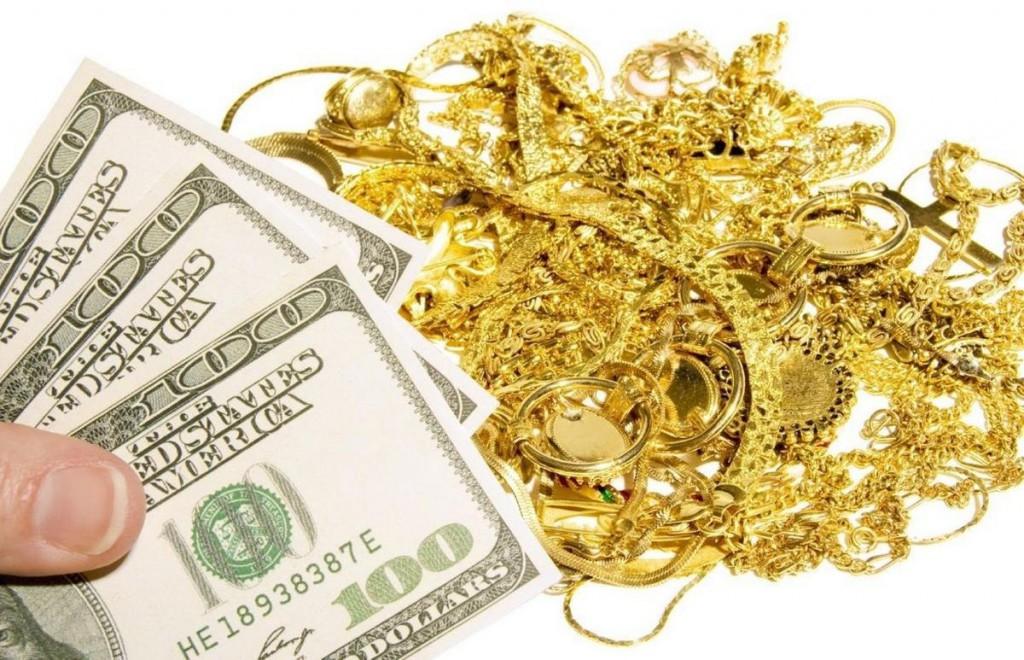 Золотой лом и доллары
