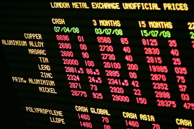 Котировки на лондонской бирже