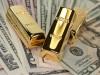 Доллары и золотые слитки