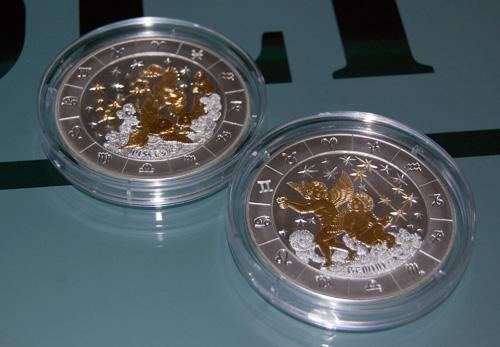 Монеты в футляре