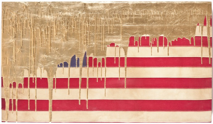 Золото на Американском флаге