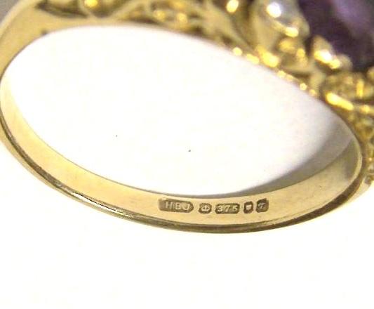Клеймо 375 на кольце