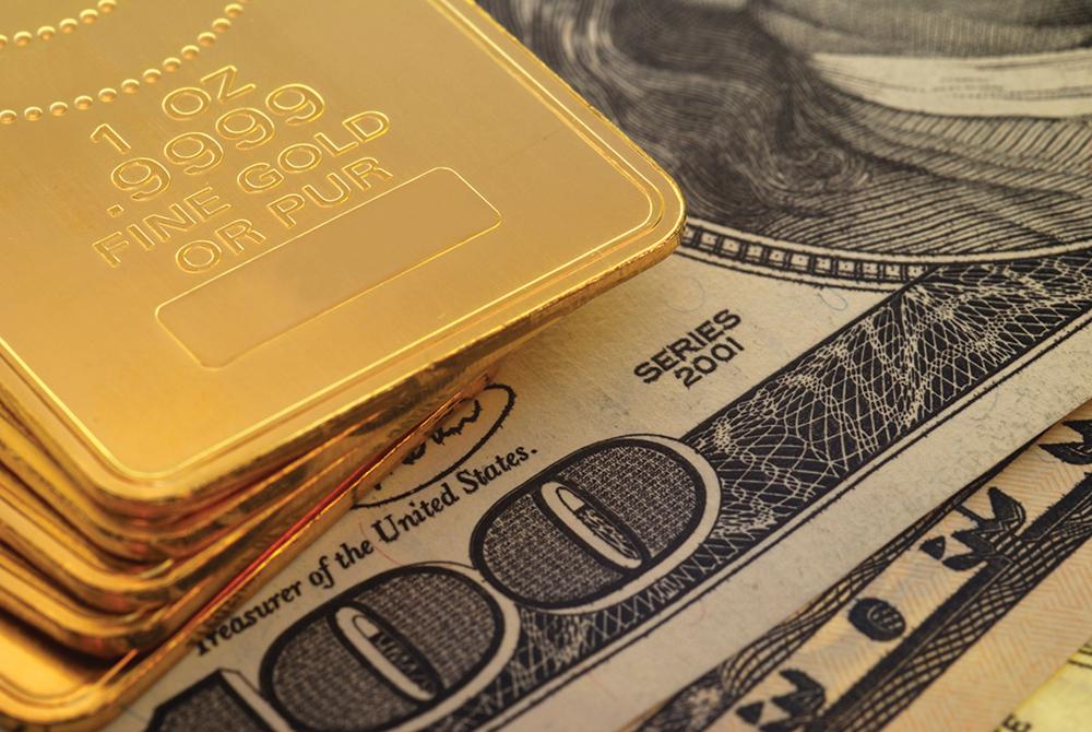 Золото к доллару