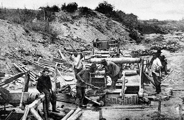 Поиск золота старателями в 20 веке