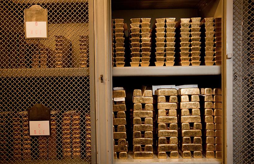 Склад слитков золота