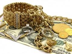 Золото в виде украшений и монет