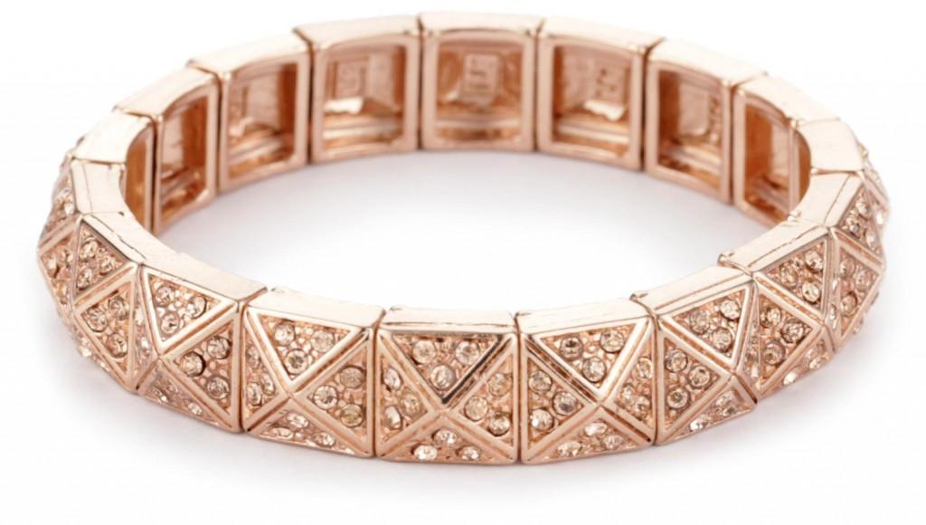 Розовая цепочка из золота