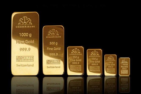 Слитки золота различной массы