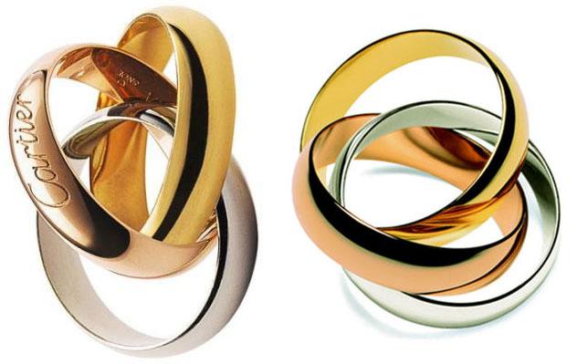 Золотые кольца картиер