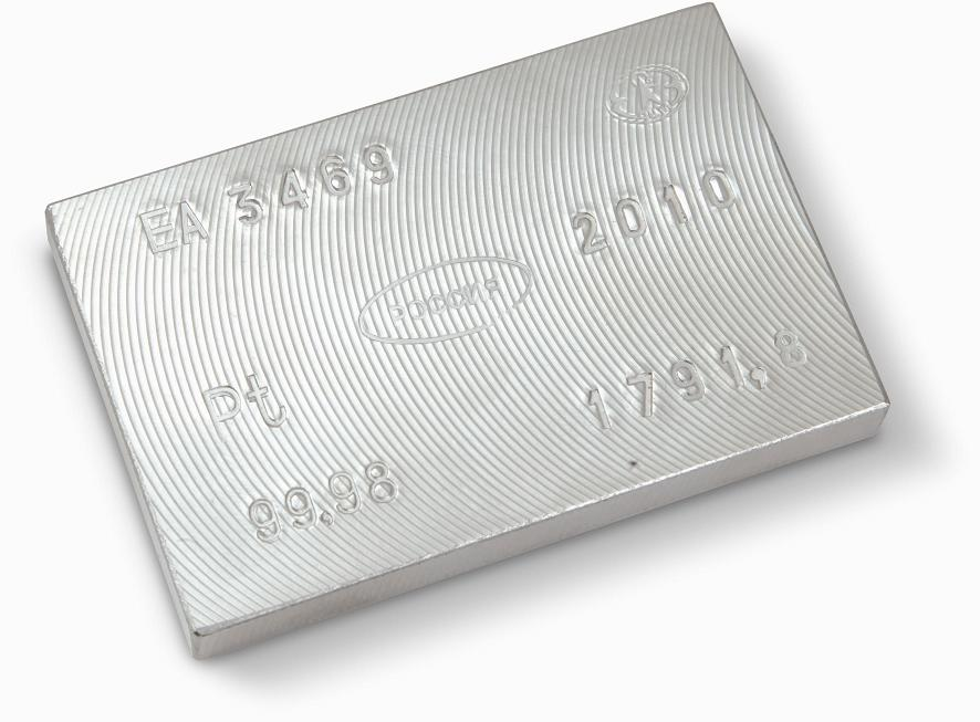 Слиток платины