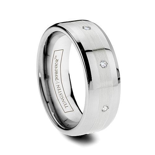 Платиновое кольцо с гравировкой