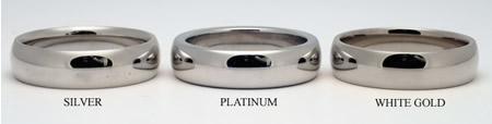 Сравнение колец из серебра и платины