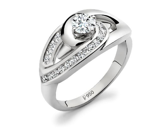 Платиновое кольцо 950 пробы