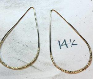 Золотое украшение для шеи 14 карат