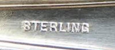 надпись Стерлинг на серебряном изделии