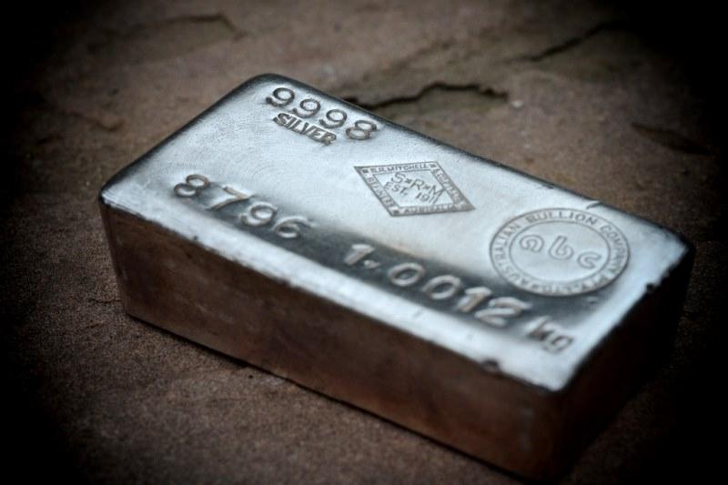 слиток чистого серебра 999 пробы